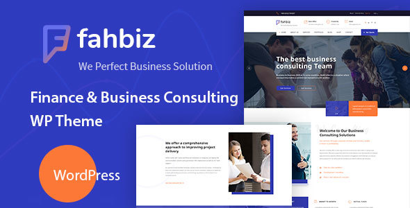 Fahbiz - Finance & Business Consulting WordPress Theme