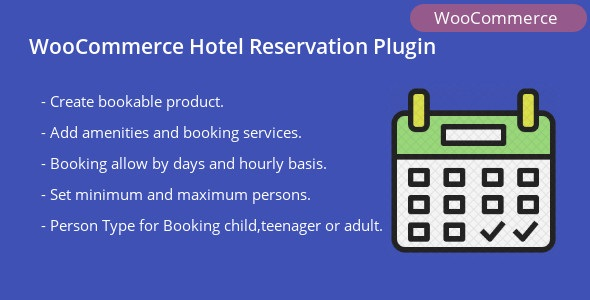 WooCommerce Hotel Reservation Plugin            Nulled