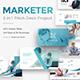 Marketer Pitch Deck 3 in 1 Bundle Google Slide Template - GraphicRiver Item for Sale