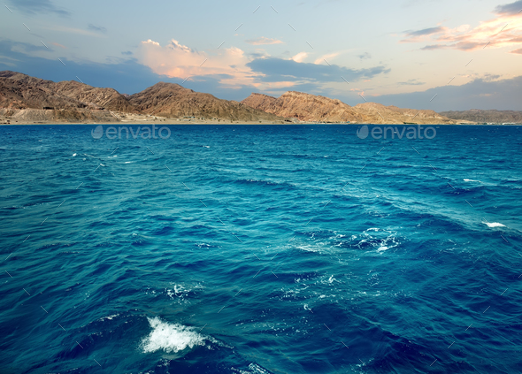 Mountains in the sea - Stock Photo - Images