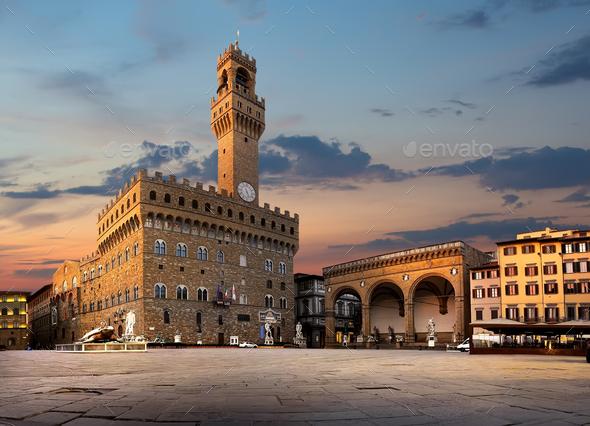 Square of Signoria - Stock Photo - Images