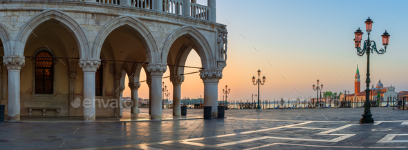 Venice ancient palace - Stock Photo - Images