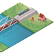 Isometric Passenger High Speed Train Concept - GraphicRiver Item for Sale