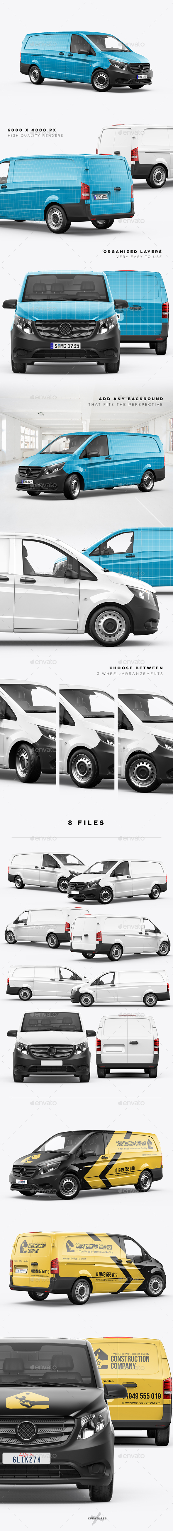 Vito Panel Van Mockup - Vehicle Wraps Print