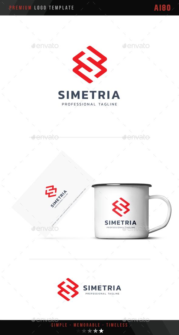 Letter S - Simetria Logo - Symbols Logo Templates