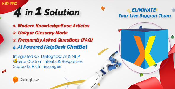 KnowledgeBase Glossary, FAQ & HelpDesk ChatBot            Nulled