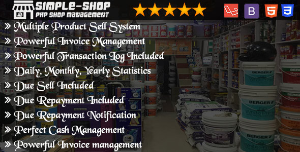 Shop Management System      Nulled