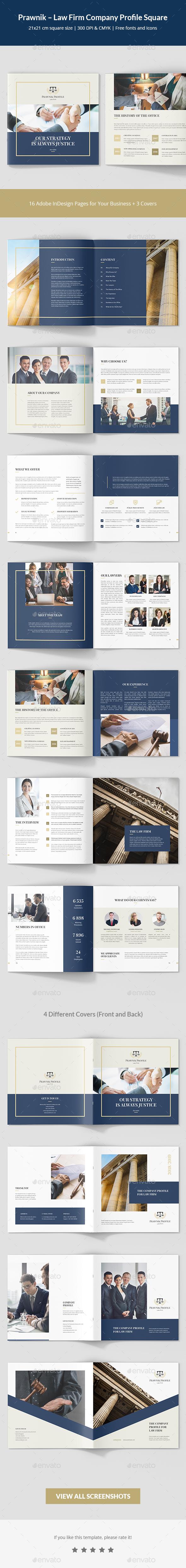 Prawnik – Law Firm Company Profile Square - Corporate Brochures