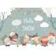 Cartoon Happy Children Enjoying Winter - GraphicRiver Item for Sale