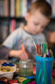 Small boy painting at home - PhotoDune Item for Sale