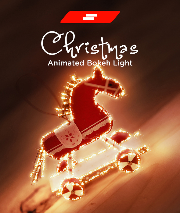 Gif Animated Christmas Bokeh Light Photoshop Action - Photo Effects Actions