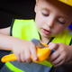 Boy playing as a foreman - PhotoDune Item for Sale