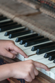 Little girl playing on the piano - PhotoDune Item for Sale