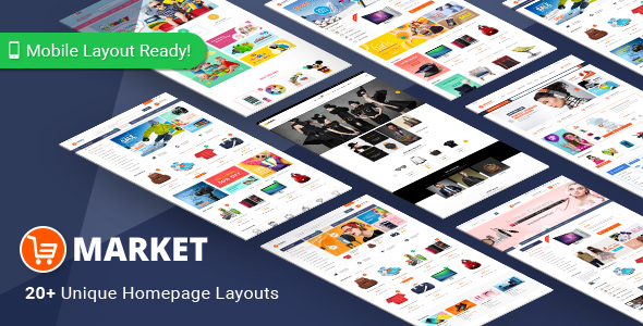 Market - Premium Responsive Magento 2 and 1.9 Store Theme with Mobile-Specific Layout (20 HomePages)