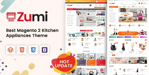 Zumi - Flexible and Modern Kitchen Appliance Magento 2 Theme - Shopping Magento