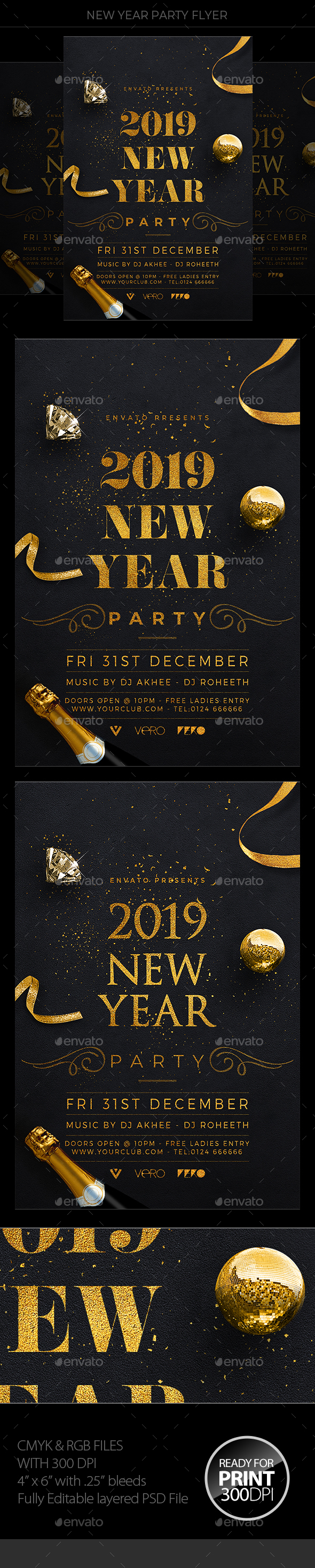 New Years Eve - Events Flyers