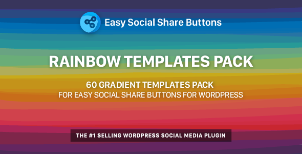 Rainbow Templates Pack for Easy Social Share Buttons - CodeCanyon Item for Sale