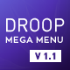 Droop Mega Menu - CodeCanyon Item for Sale