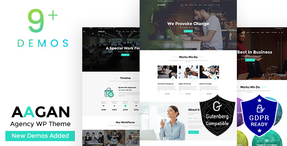 Aagan – Agency, Startup WordPress Theme Free Download