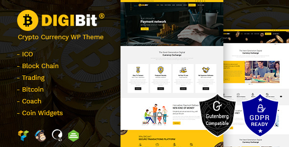 DigiBit - Cryptocurrency Mining WordPress Theme