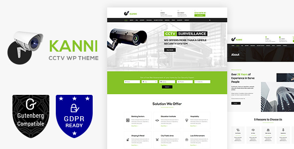 Kanni - Home Automation, CCTV, Security Theme - Technology WordPress