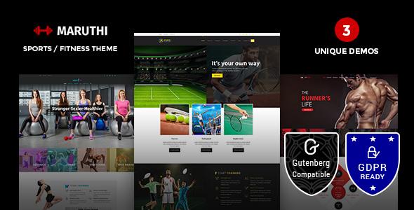 Maruthi Fitness - Fitness Center WordPress Theme - Health & Beauty Retail