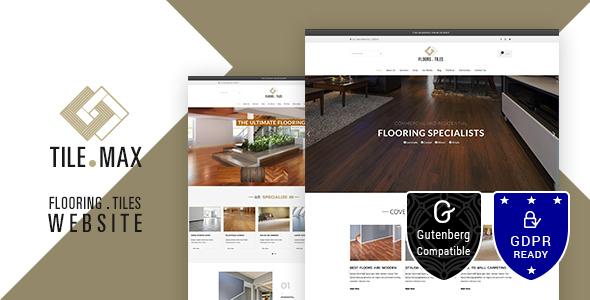 Tilemax - Flooring, Tiling & Paving WP Theme - Corporate WordPress