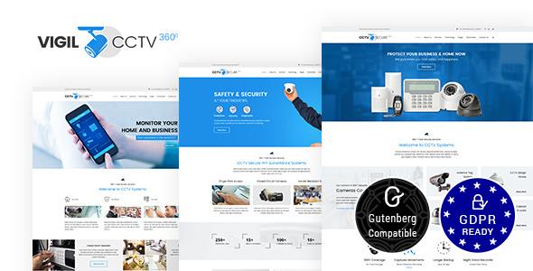 Vigil - CCTV, Security WordPress Theme - Corporate WordPress