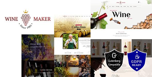 Wine Maker - Wine, Winery Theme - Retail WordPress