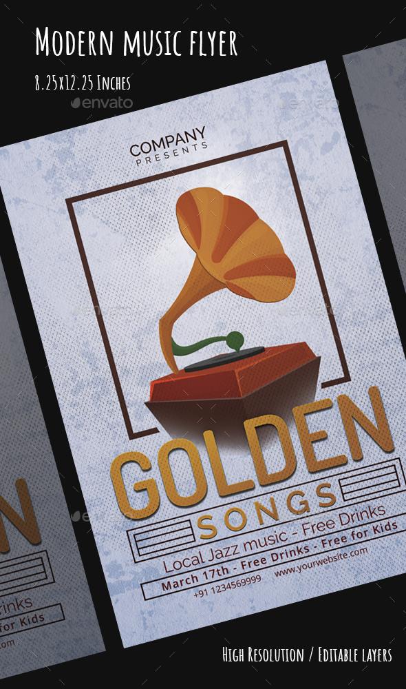 Modern Music Flyer - Events Flyers