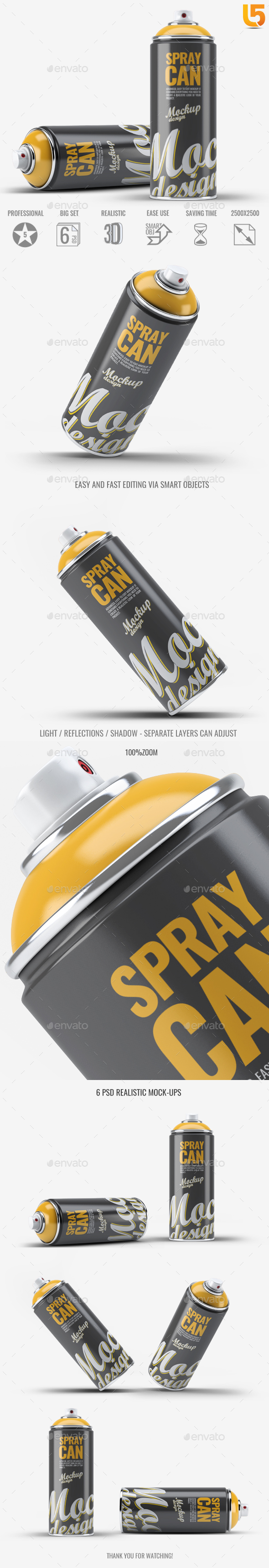 Spray Paint Mock-Up v.1 - Miscellaneous Packaging