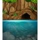 Underwater Cave Landscape Scene - GraphicRiver Item for Sale