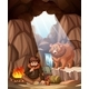 Man Camping In The Bear Cave - GraphicRiver Item for Sale
