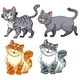 Set of Different Cat Characters - GraphicRiver Item for Sale