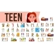 Teen Set Vector - GraphicRiver Item for Sale