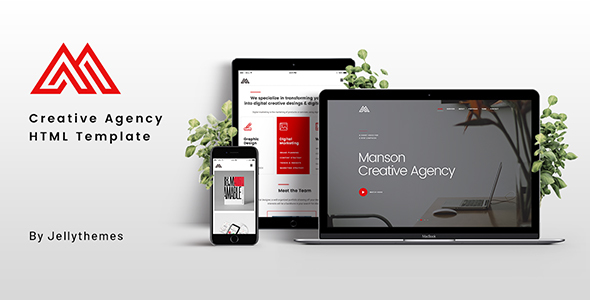 Manson - Creative Agency HTML Template - Creative Site Templates