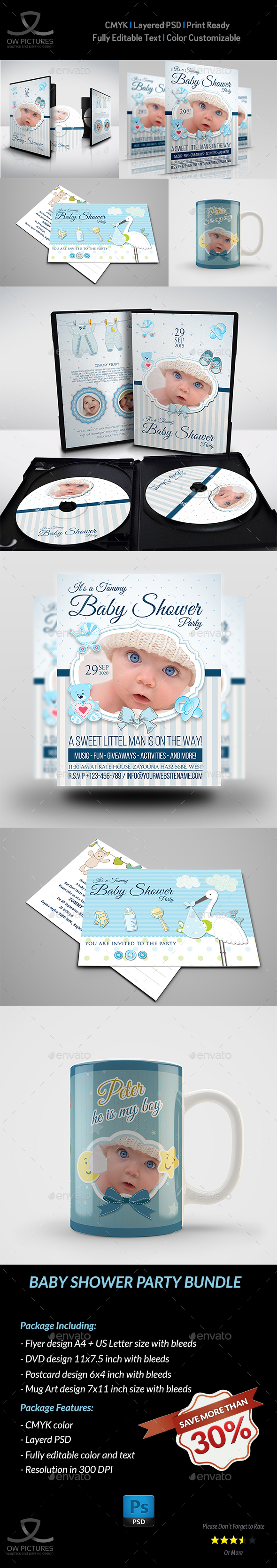 Baby Shower Party Bundle - Miscellaneous Print Templates