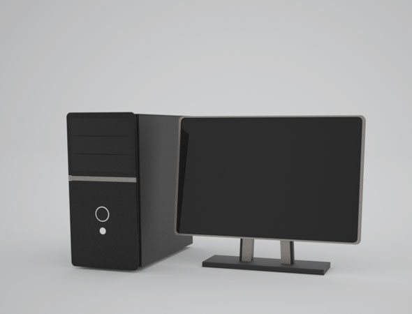 Computer PC Desktop - 3DOcean Item for Sale