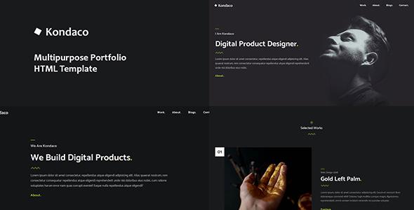 Kondaco - Creative Multipurpose Portfolio HTML Template Free Download | Nulled