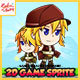 Metal Soldier Elza - 2D Game Character Sprites - GraphicRiver Item for Sale