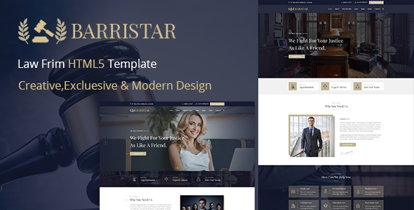 Barristar – Lawyers Attorneys and Law Firm HTML Template Free Download | Nulled