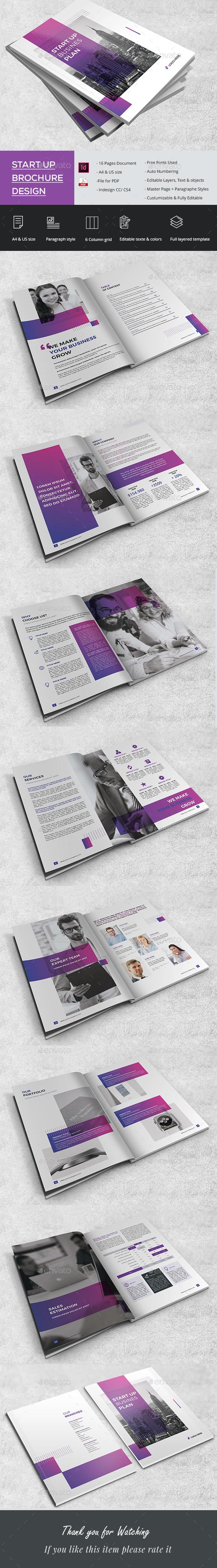 Stylish Start up Brochure - Brochures Print Templates