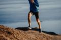 man runner run steep mountain  - PhotoDune Item for Sale