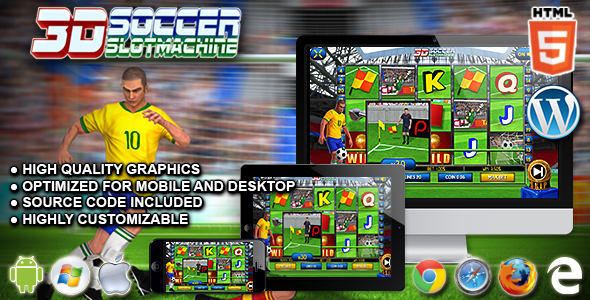 3D Soccer Slot Machine - Premium HTML5 Casino Game - CodeCanyon Item for Sale