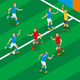 Football Isometric Composition - GraphicRiver Item for Sale