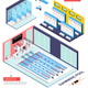 Swimming Pool Isometric Composition - GraphicRiver Item for Sale