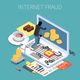 Internet Fraud Isometric Composition - GraphicRiver Item for Sale