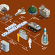 Mars Colonization Isometric Flowchart - GraphicRiver Item for Sale