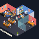 Game Development Isometric Composition - GraphicRiver Item for Sale