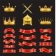 King and Knight Golden Authority Symbol Treasures - GraphicRiver Item for Sale